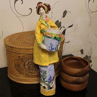 Для дома и интерьера ручной работы. Ярмарка Мастеров - ручная работа Хранительницы ватных палочек и дисков 5 видов. Handmade.