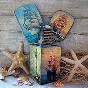 Сувениры и подарки ручной работы. Ярмарка Мастеров - ручная работа Набор морской для  Марины. Handmade.