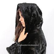 Одежда ручной работы. Ярмарка Мастеров - ручная работа Норковая шуба 90 см цвет черный. Handmade.