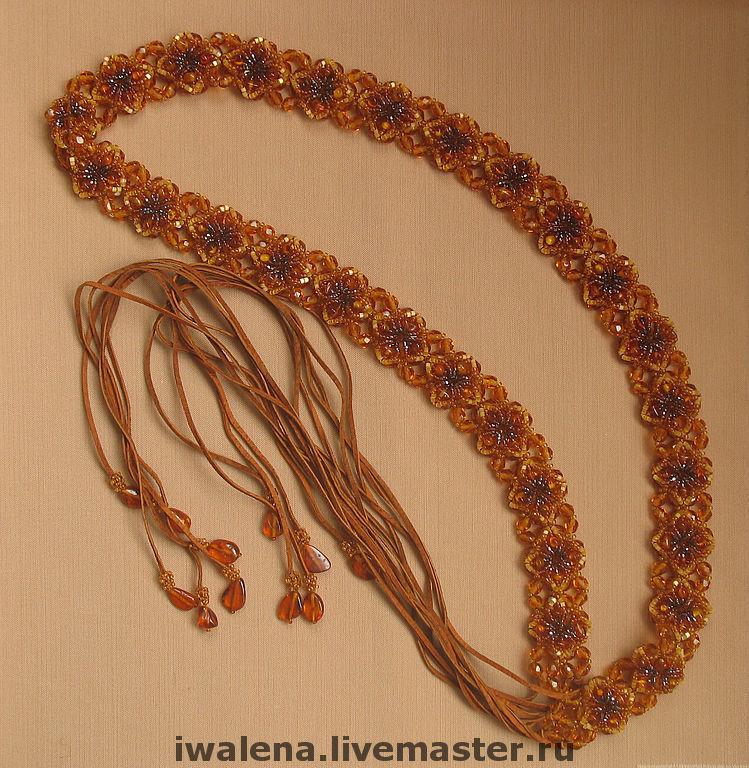 Belts handmade. Livemaster - handmade. Buy Zone 'Amber coast'.Beads, original gift, gift for a birthday