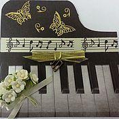 """Открытки ручной работы. Ярмарка Мастеров - ручная работа Открытка поздравительная """"Звуки музыки"""". Handmade."""