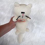Куклы и игрушки ручной работы. Ярмарка Мастеров - ручная работа Кот игрушка кот подушка.. Handmade.