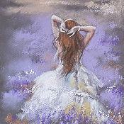 Картины и панно ручной работы. Ярмарка Мастеров - ручная работа Лавандовый ветер - картина пастелью. Handmade.