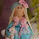 Коллекционные куклы ручной работы. Текстильная куколка- малышка Дженни. Юлия Соколова. Ярмарка Мастеров. Кукла с мишкой, мех искусственный