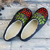 Обувь ручной работы handmade. Livemaster - original item Are Welcome women`s Slippers felted from Merino wool with prevention. Handmade.