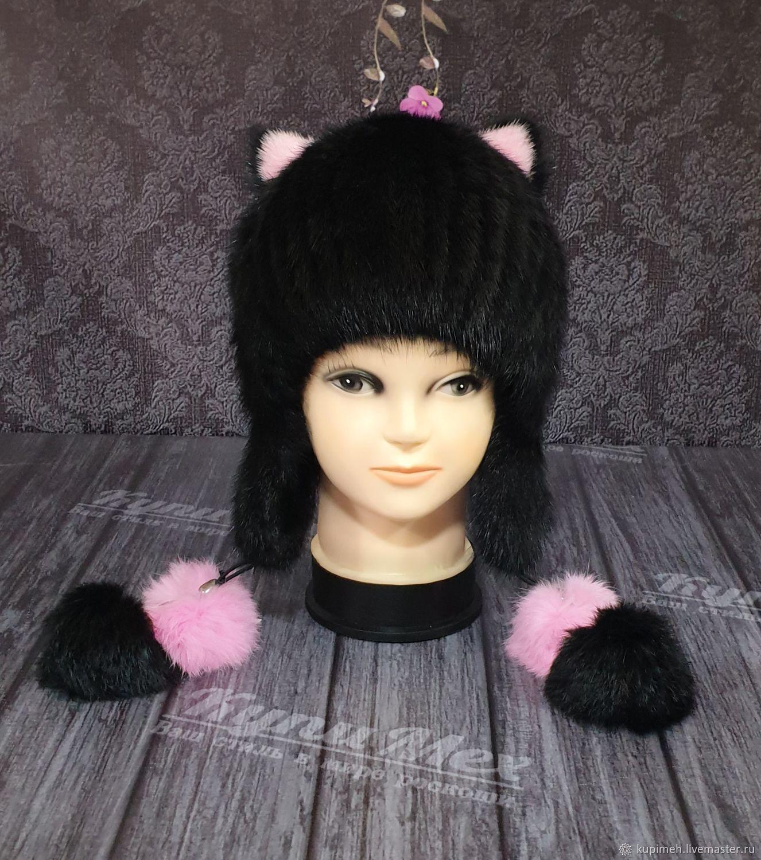 Fur hat made of muskrat fur.( Premium), Caps, Nalchik,  Фото №1