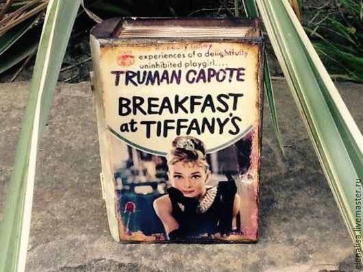 """Шкатулки ручной работы. Ярмарка Мастеров - ручная работа. Купить Шкатулка""""Завтрак у Тиффани"""". Handmade. Шкатулка, Одри Хепберн, купить подарок"""
