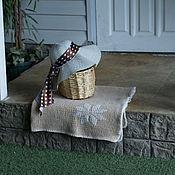 Для дома и интерьера ручной работы. Ярмарка Мастеров - ручная работа Вязаный спицами бежевый детский плед. Handmade.