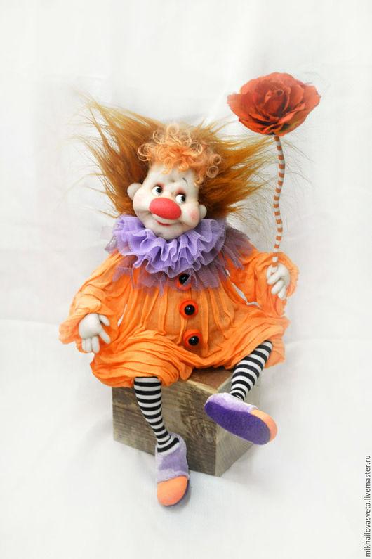 Коллекционные куклы ручной работы. Ярмарка Мастеров - ручная работа. Купить Просто Так. Handmade. Оранжевый, подарок девушке, акрил