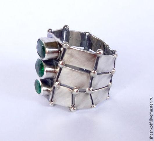 """Кольца ручной работы. Ярмарка Мастеров - ручная работа. Купить Серебряное кольцо  """"Lizard"""". Handmade. Зеленый, крокодил, серебро 925"""