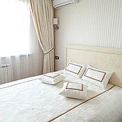 Для дома и интерьера ручной работы. Ярмарка Мастеров - ручная работа Шторы и покрывало для спальни  Романтика. Handmade.