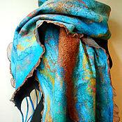 """Аксессуары ручной работы. Ярмарка Мастеров - ручная работа Шарф-палантин """"Coral reef"""". Handmade."""