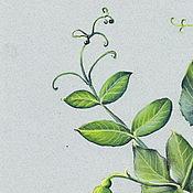 Картины и панно ручной работы. Ярмарка Мастеров - ручная работа Картина пастелью Зеленый горошек. Handmade.