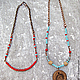 ярко-красный     бирюзовый     голубой     ожерелье     ожерелье с подвеской     ожерелье из бисера     ожерелья     бусы     tribal     дикий запад     бохо украшения     бохо     для дев