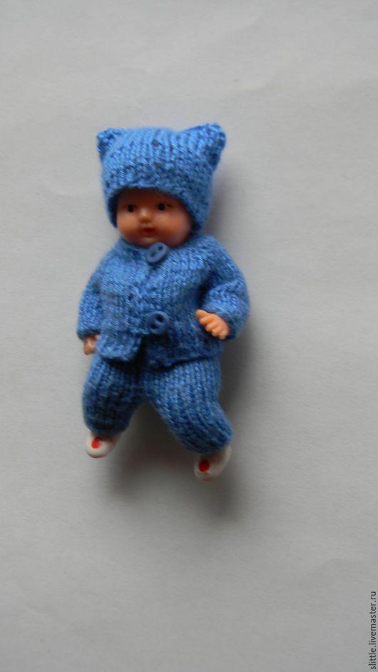 Одежда для кукол ручной работы. Ярмарка Мастеров - ручная работа. Купить Костюмчик на мини куколку. Handmade. Голубой, кукольное платье