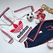 Одежда детская handmade. Livemaster - original item Adidas tracksuit for baby. Handmade.
