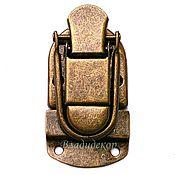 Материалы для творчества ручной работы. Ярмарка Мастеров - ручная работа Замок металический задвижкой М-171 пряжка для сумок чемоданов сундука. Handmade.