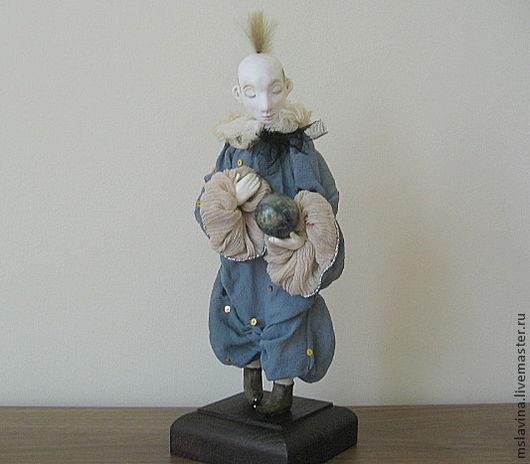 Коллекционные куклы ручной работы. Ярмарка Мастеров - ручная работа. Купить Кукла авторская, на подставке, клоун. Handmade. Кукла