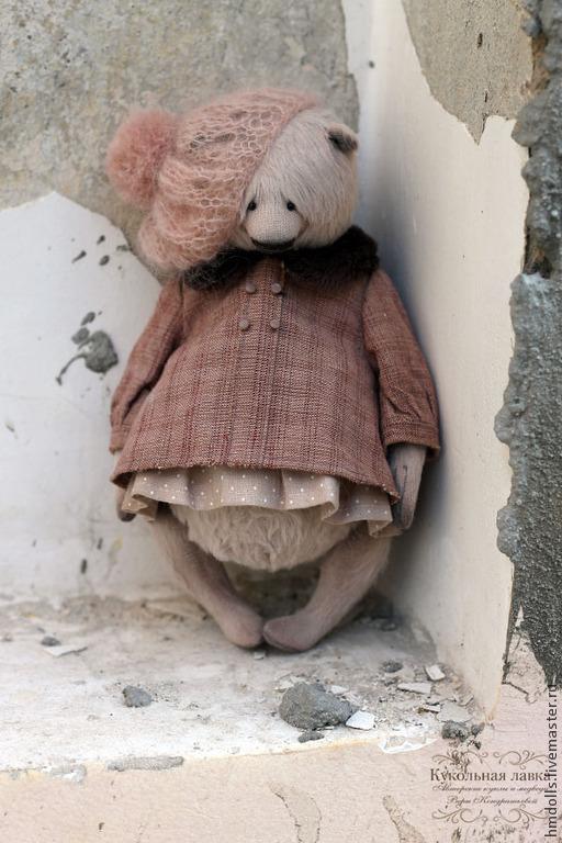 Мишки Тедди ручной работы. Ярмарка Мастеров - ручная работа. Купить Галя. Handmade. Бледно-розовый, мишка девочка, опилки