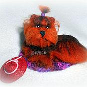 Куклы и игрушки ручной работы. Ярмарка Мастеров - ручная работа миниатюра ЙОРК собака щенок. Handmade.