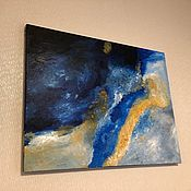 Картины ручной работы. Ярмарка Мастеров - ручная работа Арт картина «Золотое море». Handmade.