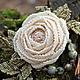 Броши ручной работы. Ярмарка Мастеров - ручная работа. Купить Брошь с розой из бисера и серьги (0381). Handmade. Разноцветный