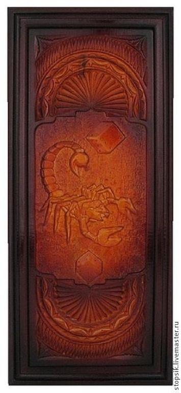 Подарки для мужчин, ручной работы. Ярмарка Мастеров - ручная работа. Купить Нарды Скорпион (резные) (2003). Handmade. Нарды