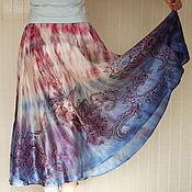 """Одежда ручной работы. Ярмарка Мастеров - ручная работа Шелковая юбка """" Вдохновение"""". Handmade."""