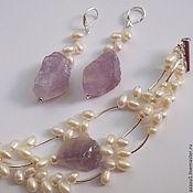 Украшения handmade. Livemaster - original item Jewelry with natural stones, silver and pearls. Handmade.