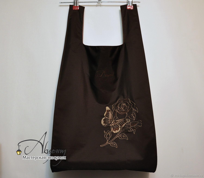 Двойная сумка для покупок Фантазия  шоколадная, Сумка-шоппер, Гай,  Фото №1