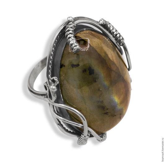 """Кольца ручной работы. Ярмарка Мастеров - ручная работа. Купить Серебряное кольцо """"Лабрадорит"""" женское, из серебра, с лабрадоритом. Handmade. Серебряный"""
