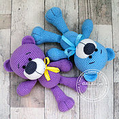 Куклы и игрушки handmade. Livemaster - original item Knitted toy Bear. The colors are different. Handmade.