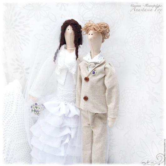 Куклы Тильды ручной работы. Ярмарка Мастеров - ручная работа. Купить Тильды - Свадебная пара. Handmade. Белый, кукла Тильда