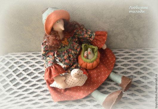 Куклы Тильды ручной работы. Ярмарка Мастеров - ручная работа. Купить Птичница тильда. Handmade. Ведьмочка, кукла Тильда, гусь
