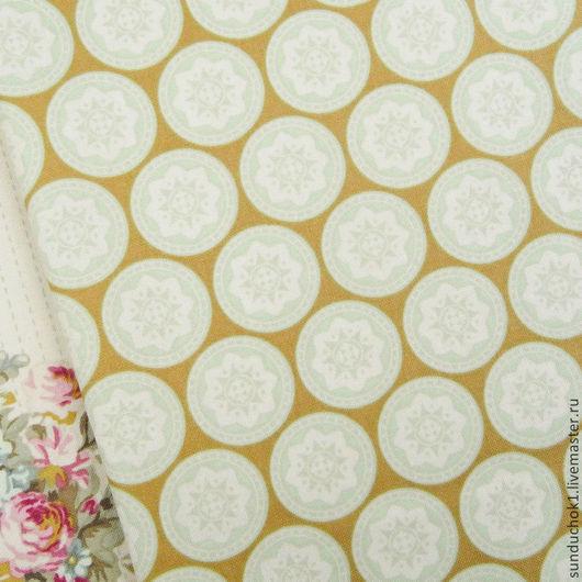 Шитье ручной работы. Ярмарка Мастеров - ручная работа. Купить Tilda Olivia Green fabric. Handmade. Ткань для творчества