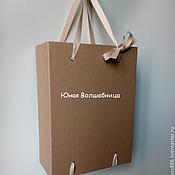 Сувениры и подарки ручной работы. Ярмарка Мастеров - ручная работа Коробка-пакет из микрогофрокартона - оригинальная упаковка подарка. Handmade.