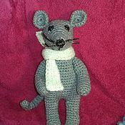Мягкие игрушки ручной работы. Ярмарка Мастеров - ручная работа Мышка и котенок. Handmade.