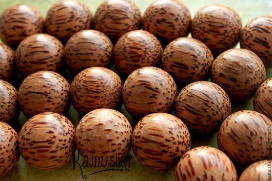 Для украшений ручной работы. Ярмарка Мастеров - ручная работа. Купить Бусины из дерева, шар 19-20 мм. 1 шт.. Handmade.
