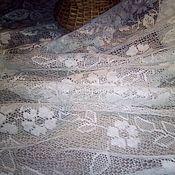 Ткани ручной работы. Ярмарка Мастеров - ручная работа Хлопковая тюль винтажная. Handmade.