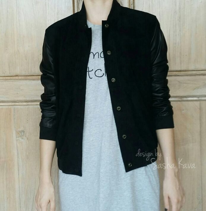 Bomber jacket made of genuine suede and genuine leather, Bombers, Moscow,  Фото №1