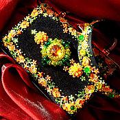 Сумки и аксессуары handmade. Livemaster - original item Evening clutch bag velvet with embroidery in the style of Dolce & Gabbana. Handmade.