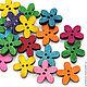 """Шитье ручной работы. Ярмарка Мастеров - ручная работа. Купить 0423 Пуговицы деревянные """"Цветы"""" 8 цветов. Handmade. Дерево"""