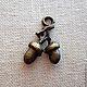 Подвеска желуди - фурнитура для украшений. подвеска для серег, кулона, броши, браслета. Цвет подвески - античная бронза. Размер подвески дерева 1,7х1 см