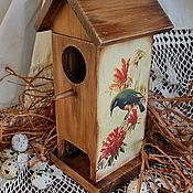 """Для дома и интерьера ручной работы. Ярмарка Мастеров - ручная работа домик для чайных пакетиков """"Птичий дом"""". Handmade."""