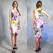 Одежда handmade. Livemaster - original item Dress of crepe silk in small flower. Handmade.