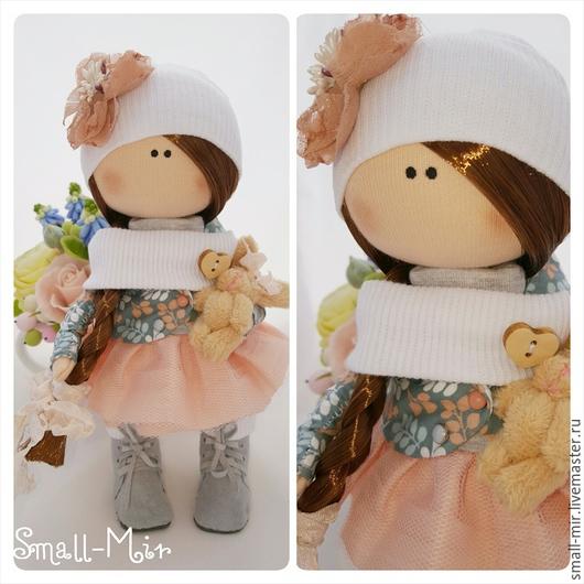 """Человечки ручной работы. Ярмарка Мастеров - ручная работа. Купить Текстильная кукла/пупсик """"Крошка Ди"""". Handmade. Разноцветный, текстильная кукла"""