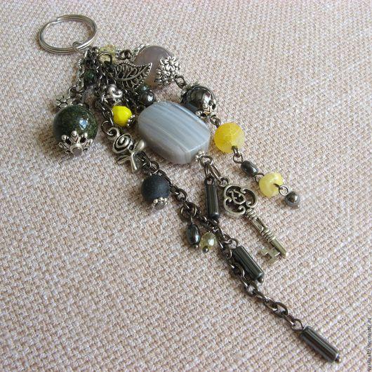 """Брелоки ручной работы. Ярмарка Мастеров - ручная работа. Купить Брелок для ключей """"Рождение сверхновой звезды"""" с натуральными камнями. Handmade."""