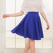 Одежда ручной работы. Ярмарка Мастеров - ручная работа Синяя юбка-солнце, юбка на осень. Handmade.