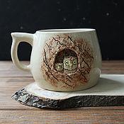 """Кружки ручной работы. Ярмарка Мастеров - ручная работа Кружка """"Совы в дупле"""". Handmade."""