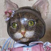Куклы и игрушки ручной работы. Ярмарка Мастеров - ручная работа кошечка будуарная. Handmade.